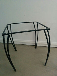 Black handmade wrought iron table base (NEW)