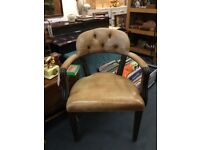 Chesterfield leather arm chairs