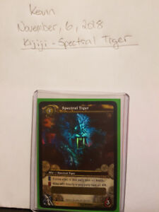SPECTRAL TIGER UNSCRATCHED - World of Warcraft WOW Loot Card