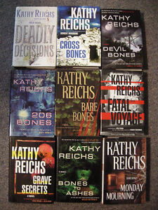 KATHY REICHS-LOT OF 9 BOOKS-HARD COVERS