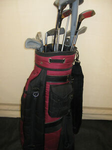 GOLF CLUBS & AND GOLF BAG & CARIER