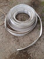 White 4 inch band fencing and posts for horses
