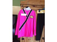 Girls age 5-6 pink power ranger samurai costume.
