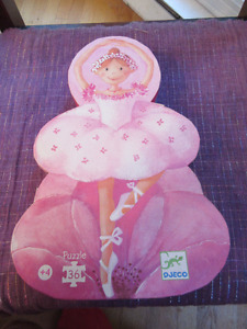 Djeco Silhouette Puzzle - Ballerina with the Flower DJ07227