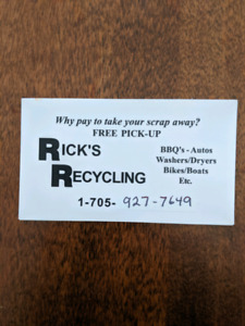 FREE.     Will pick up scrap for free !!!
