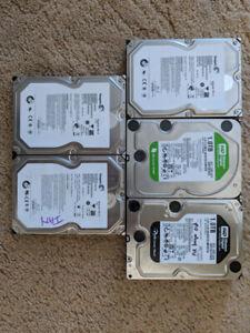 """5 x 1TB 3.5"""" SATA Hard Drives"""