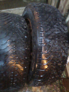 2 tires with rims Nortic 215/60R16 used with a few seasons left London Ontario image 1