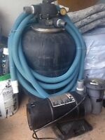 ABOVE GROUND PUMP AND FILTER (jacuzzi brand)