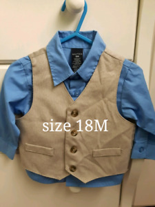 Toddler shirt and vest 18m