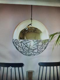 Beliani metal pendant lamp