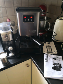 Used, GAGGIA CLASSIC 2015 COFFEE MACHINE WITH KRUPS GRINDER BUNDLE for sale  Belper, Derbyshire
