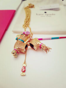 Kate Spade Scenic Route Penny Pinata Pendant Necklace $144 NEW