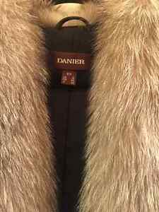 Danier Leather Jacket with real Fox fur London Ontario image 5