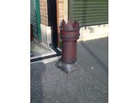 Victorian purple glazed chimney pot