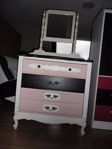 French Provincial Style dresser with mirror