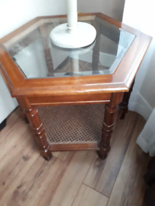 Glass-Top End Tables (x2)