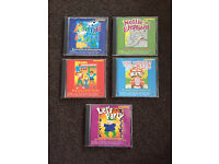 5 x Children's CD's. Nursery Rhymes.Party. Music.Lullaby.Sing-a-long 79 Songs!!!