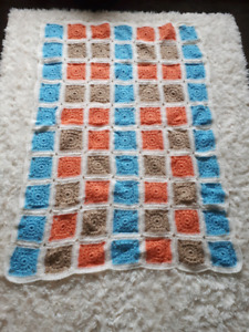 Hand made knitted large baby blanket