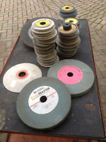 Grinding wheels - some new, some not so new.