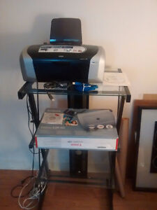 REDUCED EPSON PRINTER, CANON SCANNER NEW, COMP DESK