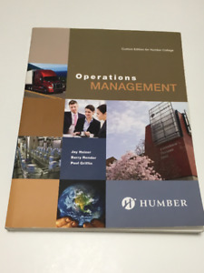 Operations Management Textbook - Humber College - Ed. Pearson