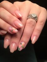 Beautiful Sculptured Gel Nails