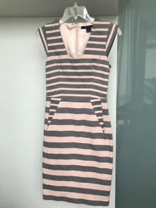 French Connection women's mist striped dress