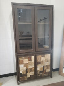 Discounted Glass Display Cabinet - On SALE - ONLY ONE LEFT