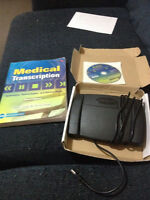 OFFICE ADMIN MEDICAL TRANSCRIPTION BOOK AND PEDAL
