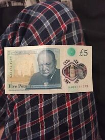 AA04 £5 note