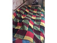 2 beautiful wool blankets ideal for camping