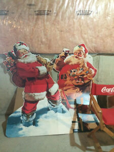 Coca Cola Stand Ups & Director's Chair Vintage