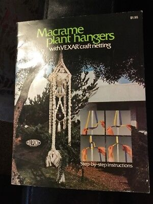 Macrame Plant Hangers with Vexar Craft Netting Step by Step