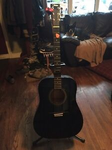Johnson guitar stand and tuner