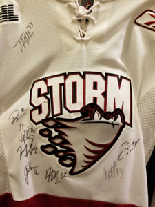 Guelph Storm Alumni Autographed Jersey including Doughty