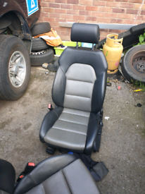 2 Audi sline front leather seats