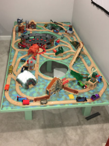 Train Table (8 feet x 4 feet) with over 50 trains & accessories