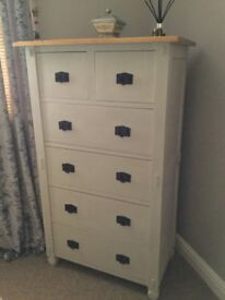 Solid Chest of Drawers - Shabby Chic