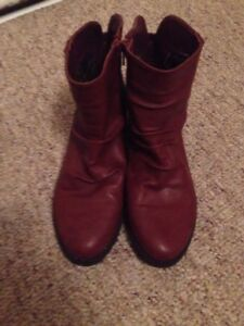 Burgundy Boots (Wide)