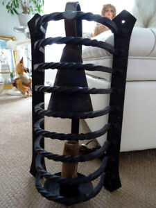 CAST IRON salvaged GOTHIC medieval CAGED SCONCE XL ARCHITECTURAL