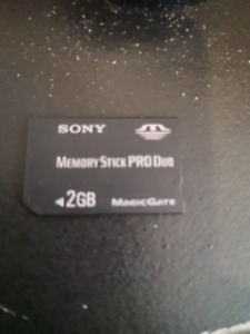 SONY MEMORY SD CARD 2 GB