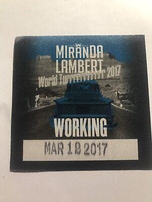 Miranda Lambert World Tour 2017 Local Crew pass NEW