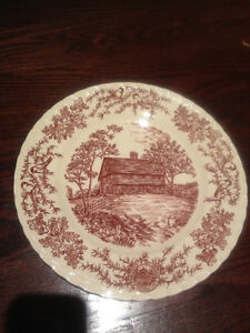 Display Red Woods Plate Collect Kitchen Country Decor Platter Md