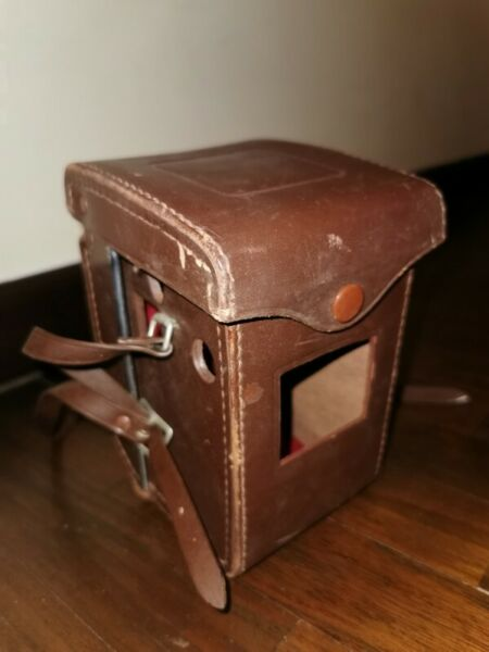 Vintage Yashica-E Camera Leather Cover Case Brown