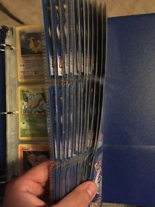 Binder of Pokemon fossil, jungle and base 2 cards
