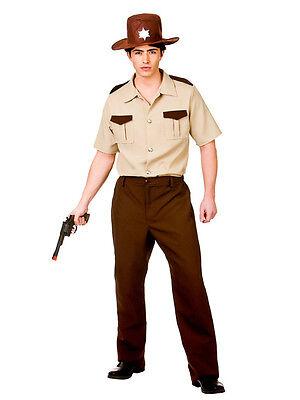 Adult U.S Sheriff Walking Dead Rick Halloween Fancy Dress Cop Police Costume
