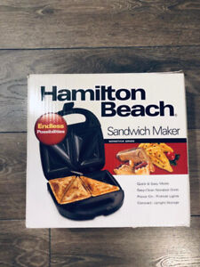 HAMILTON BEACH SANDWICH MAKER $19