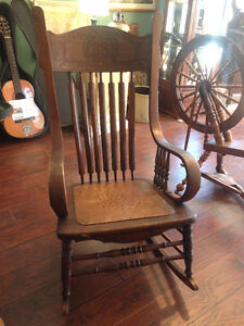 Antique Rocking Chair - Made In U.S.A.