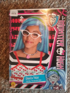 Monster High Ghoulia Yelps wig, Blue, never worn
