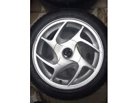 "Borbet K-Rad 4x100 15"" Alloys"